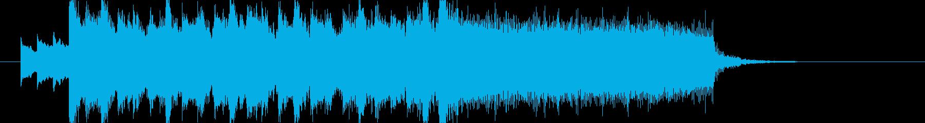 アイドルキラキラポップ4つ打ちジングルaの再生済みの波形