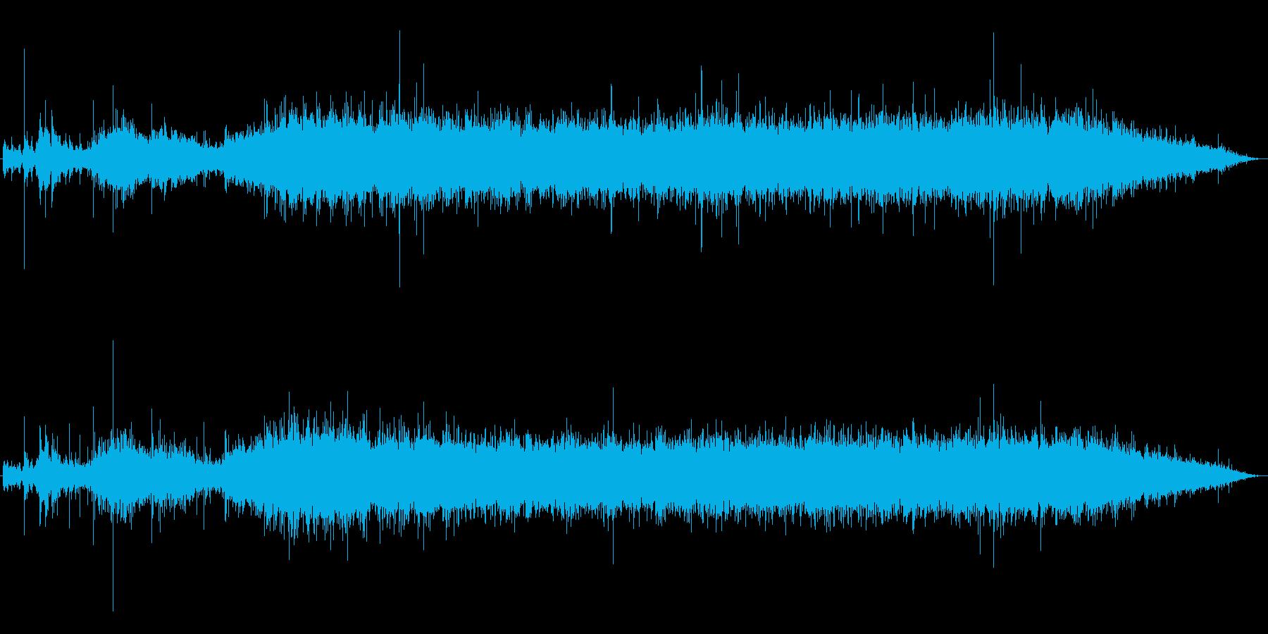 シャワー(水の上)の再生済みの波形