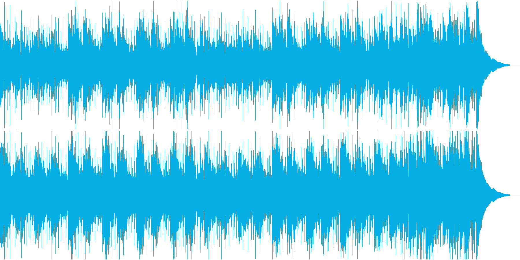 日常シーンに最適なクセの無い曲の再生済みの波形
