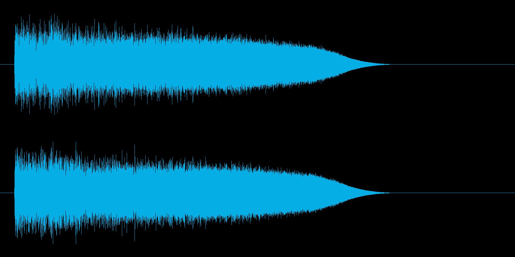レーザー音-85-3の再生済みの波形