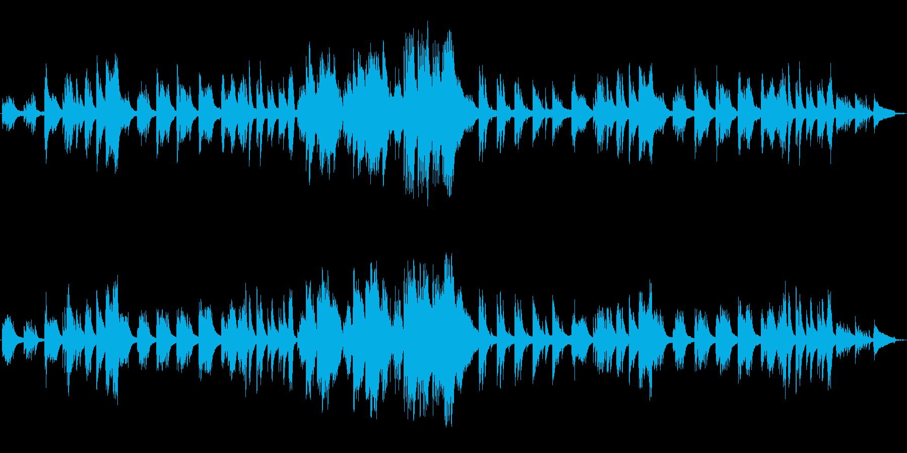 曖昧とした気だるげなピアノBGMの再生済みの波形