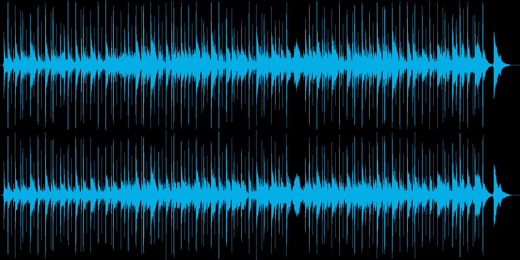 ウクレレとスティールパンのほんわかソングの再生済みの波形