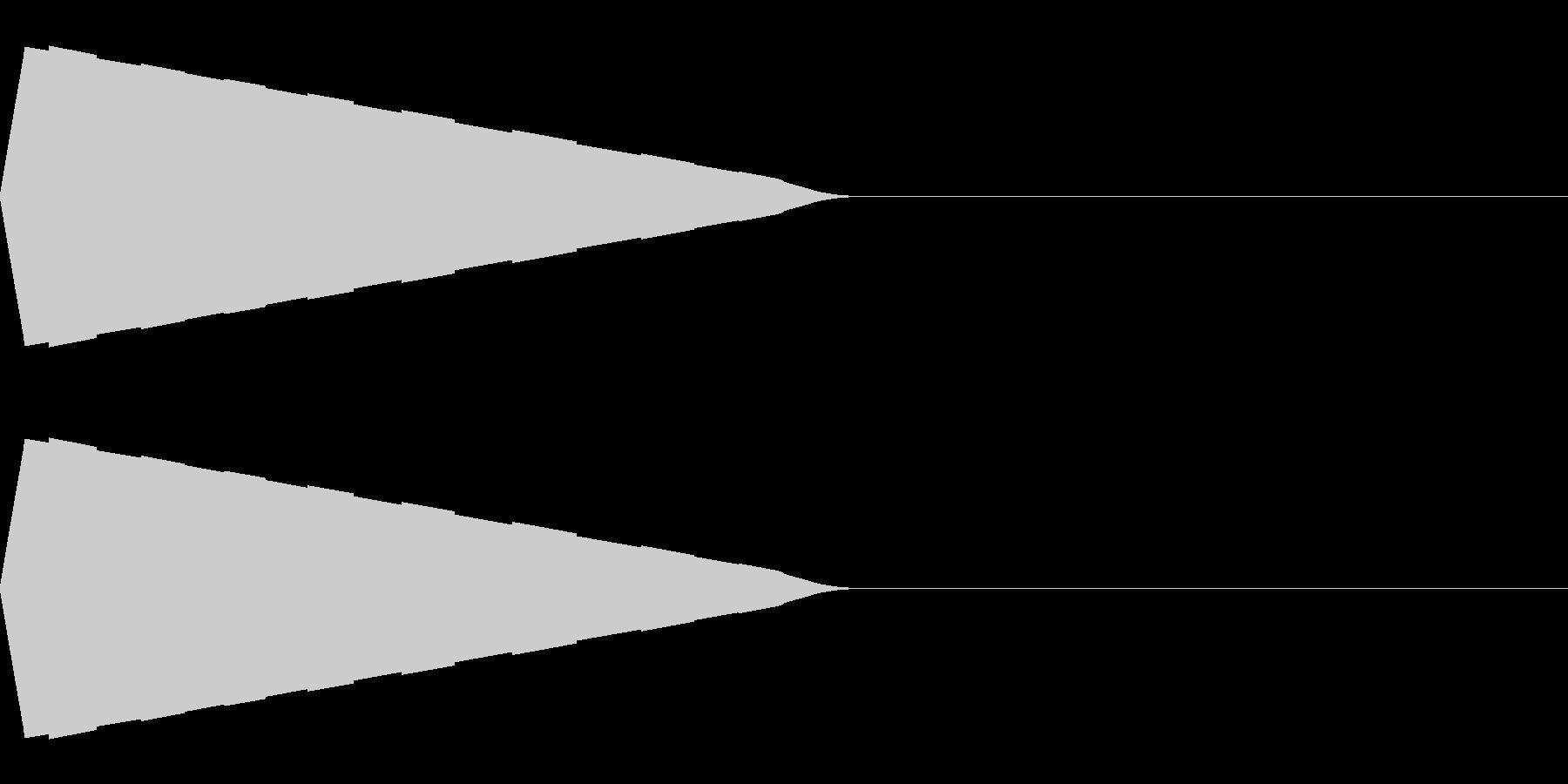 ピコン(決定/選択/かわいい/ピコピコ音の未再生の波形
