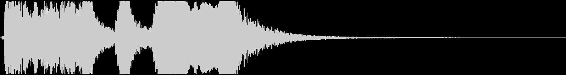 尺八と小鼓ポンッ!の短いジングルCの未再生の波形