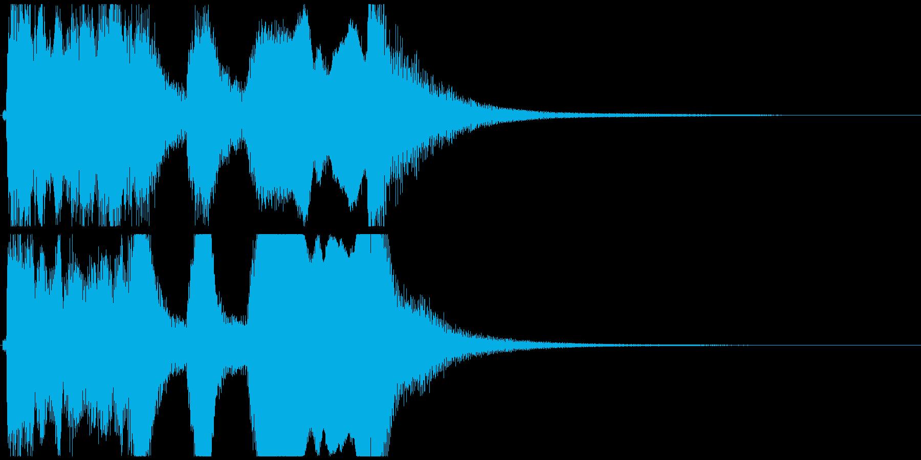 尺八と小鼓ポンッ!の短いジングルCの再生済みの波形