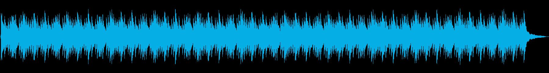 シンプルで美しく静かで幻想的なピアノ曲の再生済みの波形