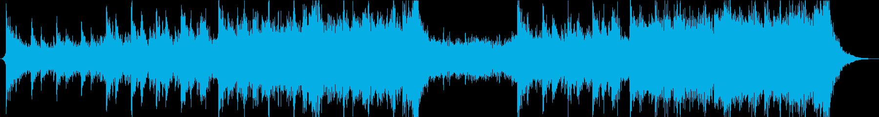 爽やかで前向きなエピックオーケストラの再生済みの波形