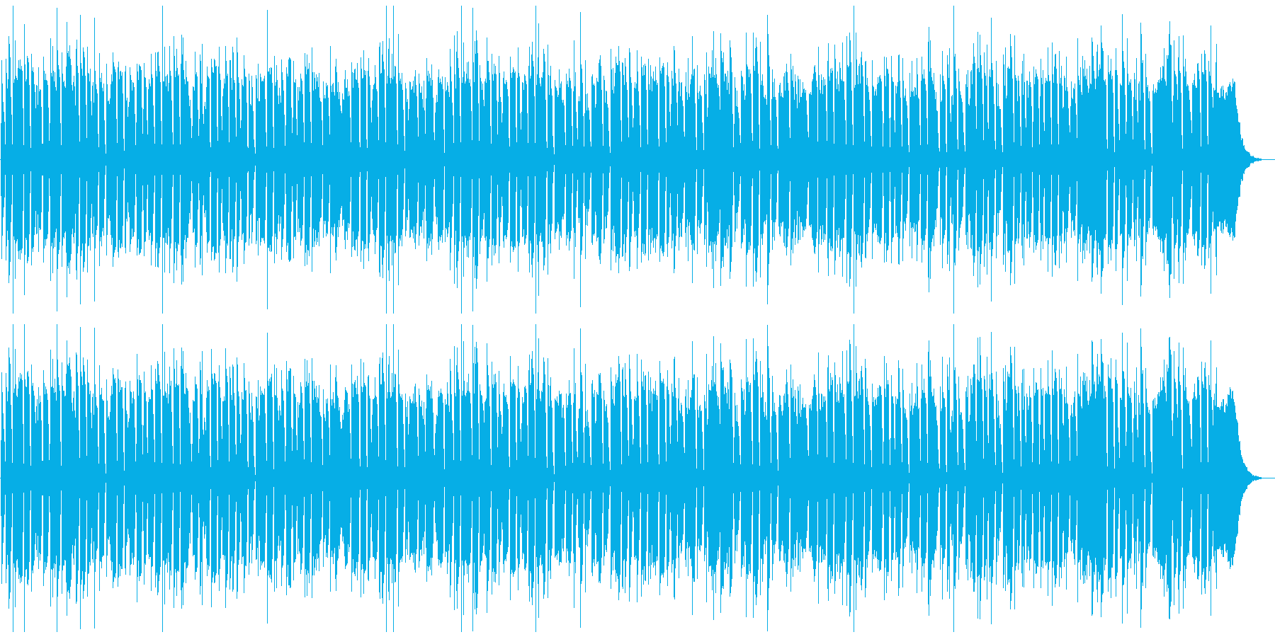 前向きな気持ちになるBGMの再生済みの波形