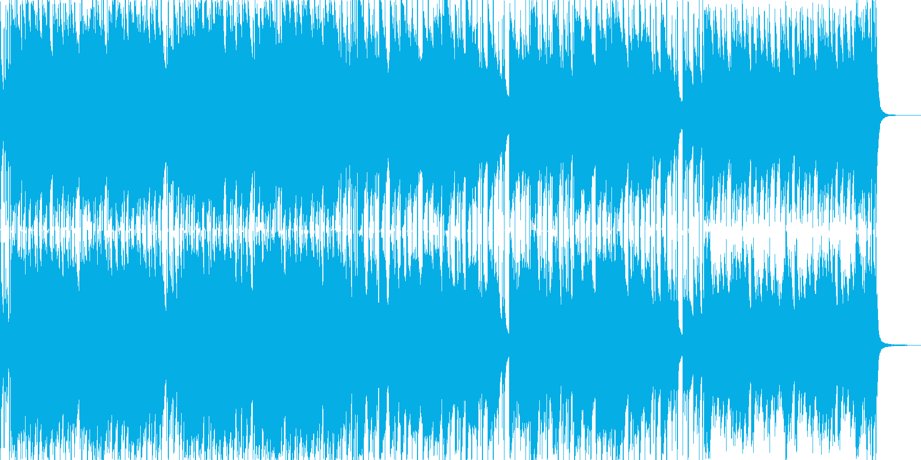日常系BGM-01の再生済みの波形