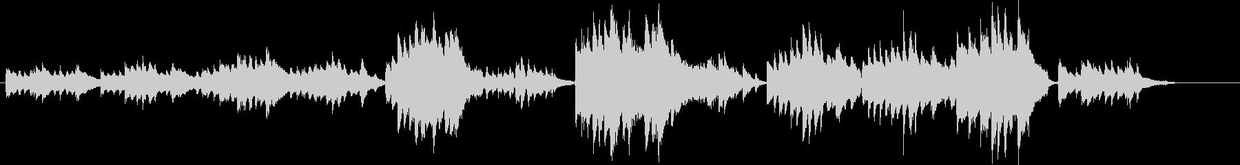同じメロディーが繰り返される静かピアノ曲の未再生の波形
