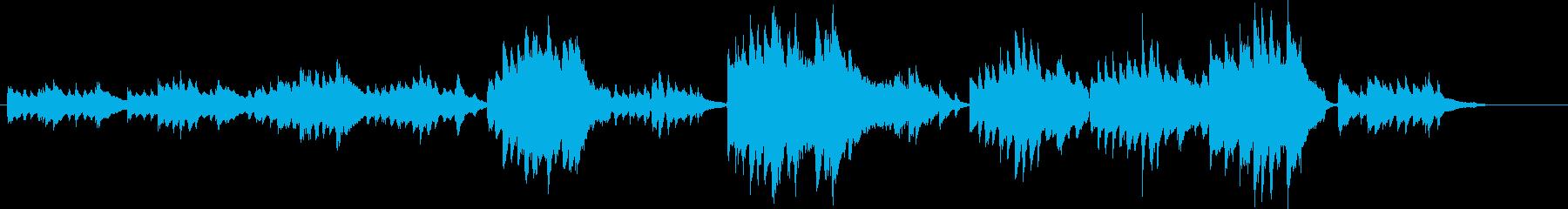 同じメロディーが繰り返される静かピアノ曲の再生済みの波形