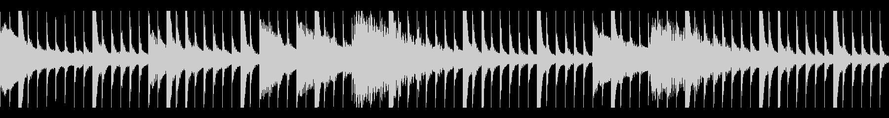 アフリカン木琴とピアノのミニマルループの未再生の波形