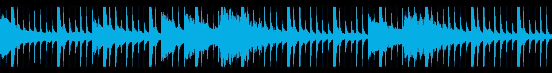アフリカン木琴とピアノのミニマルループの再生済みの波形