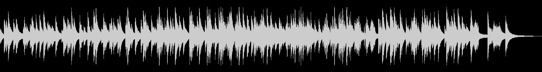 スローテンポのジャズ風ラウンジピアノソロの未再生の波形