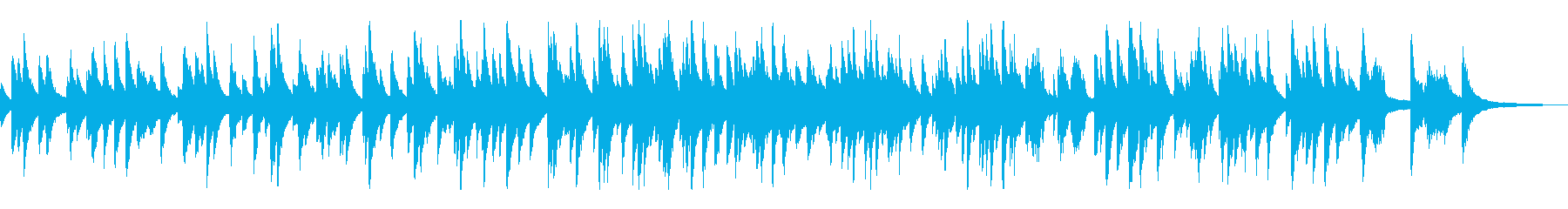 スローテンポのジャズ風ラウンジピアノソロの再生済みの波形