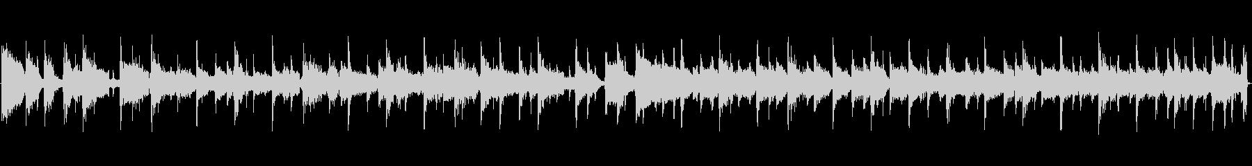 スタイリッシュなフュージョンBGMの未再生の波形