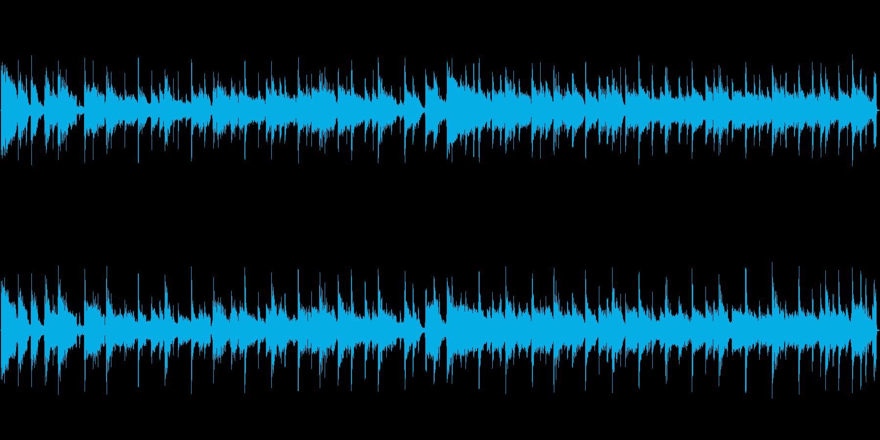 スタイリッシュなフュージョンBGMの再生済みの波形