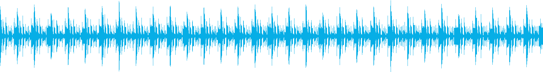 シンキングタイム三拍子のループ素材の再生済みの波形