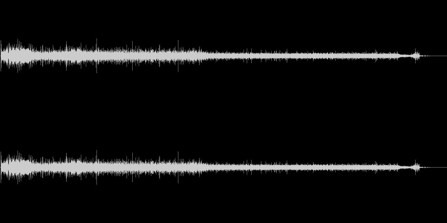 バスタブ充填の未再生の波形