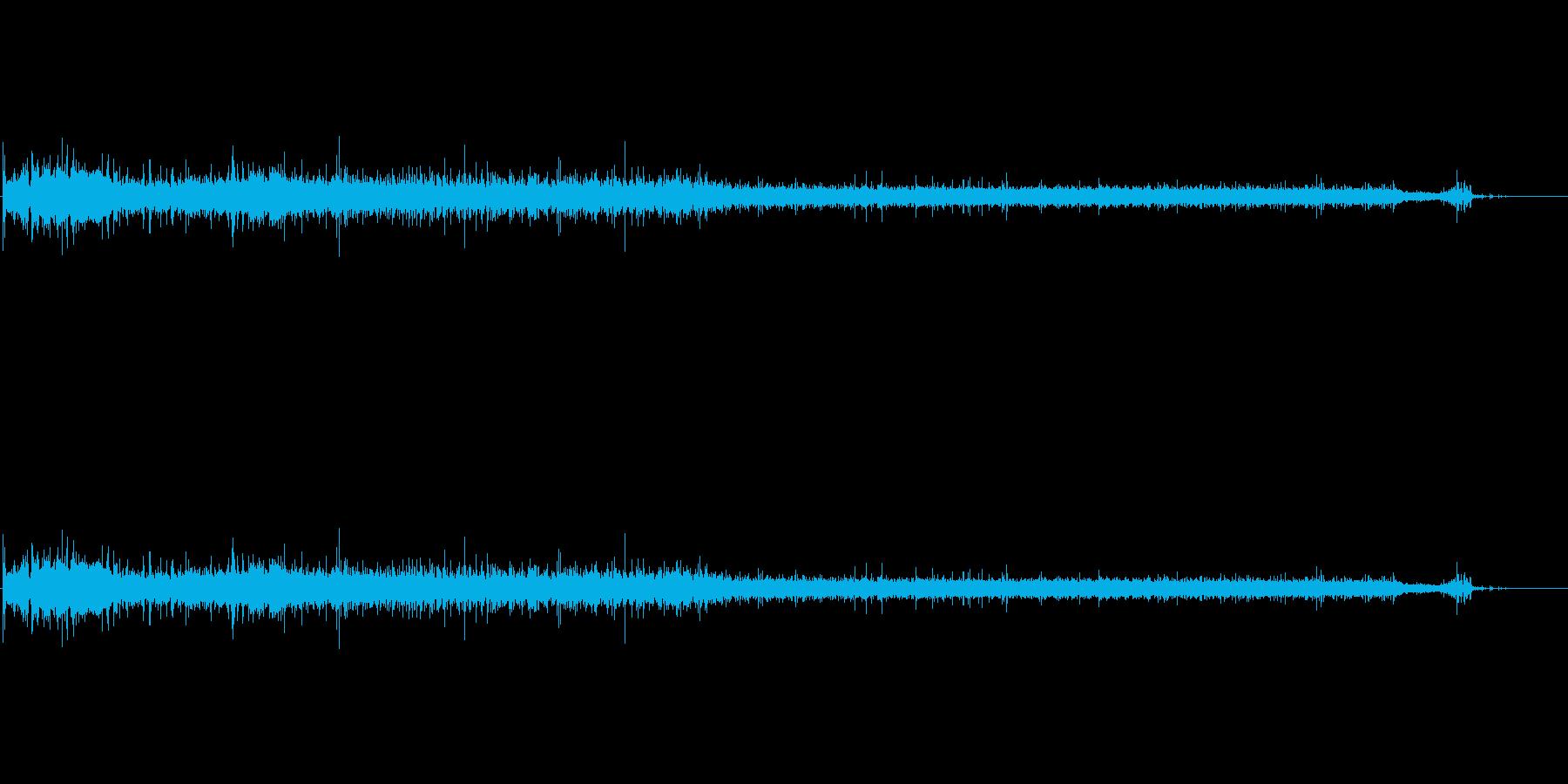 バスタブ充填の再生済みの波形