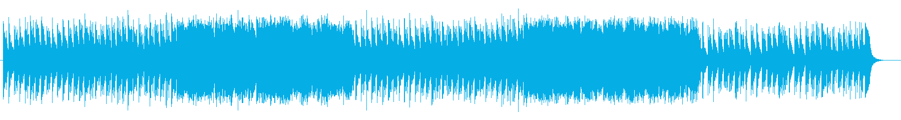 和やかで平和的なミュージックの再生済みの波形