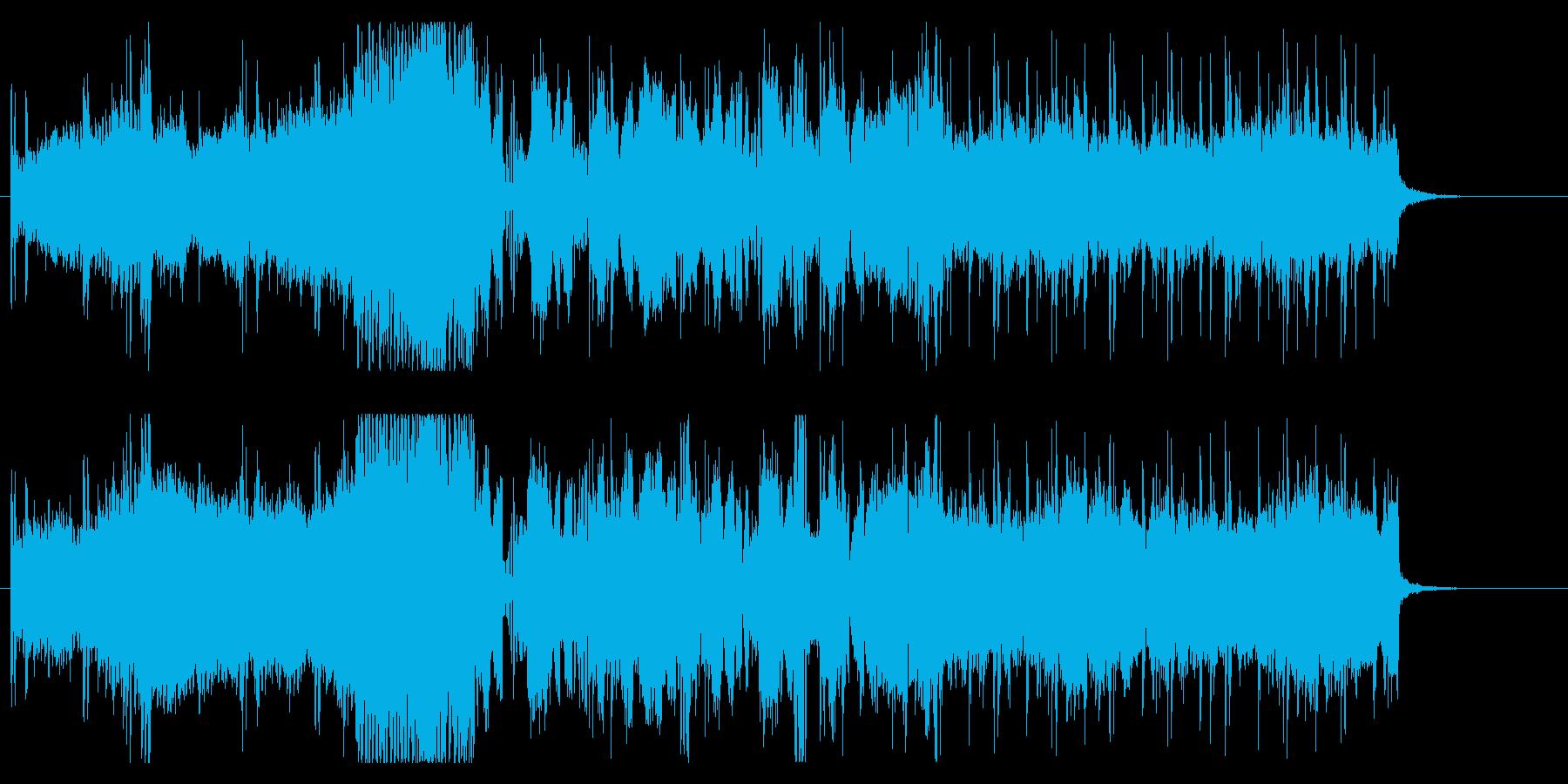 自動車のCMをイメージしたbgmの再生済みの波形