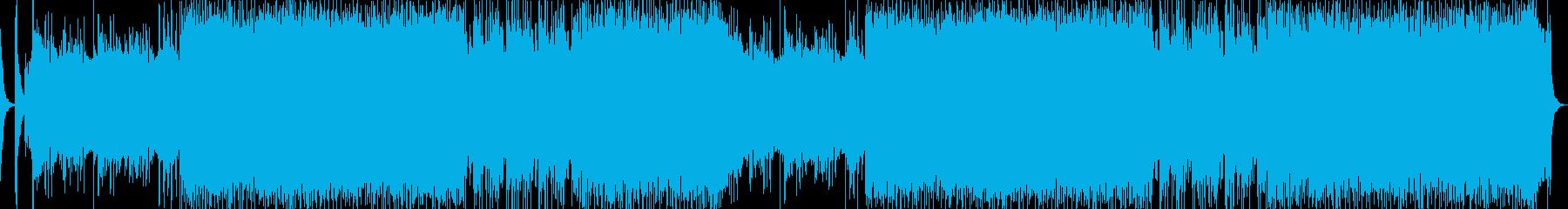妖魔討伐がテーマのアップテンポ和風ロックの再生済みの波形