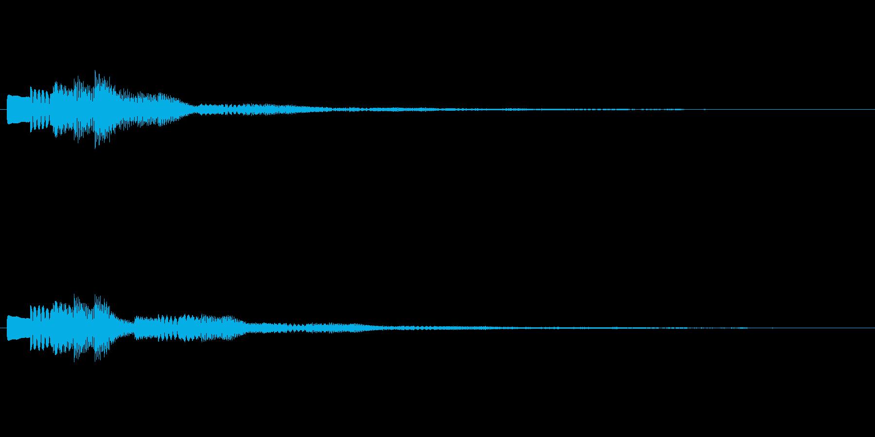 トルルルーン テロップ・決定音・タッチ音の再生済みの波形
