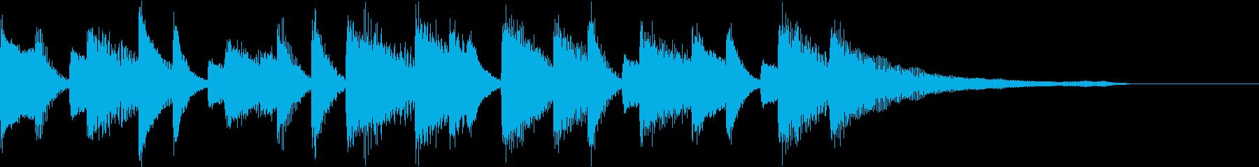 可愛くちょいレトロな喜劇的ピアノジングルの再生済みの波形