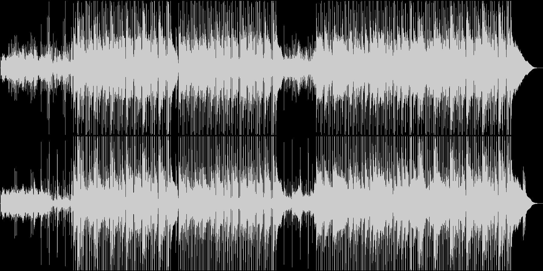 のんびりウクレレのハワイアン楽曲の未再生の波形