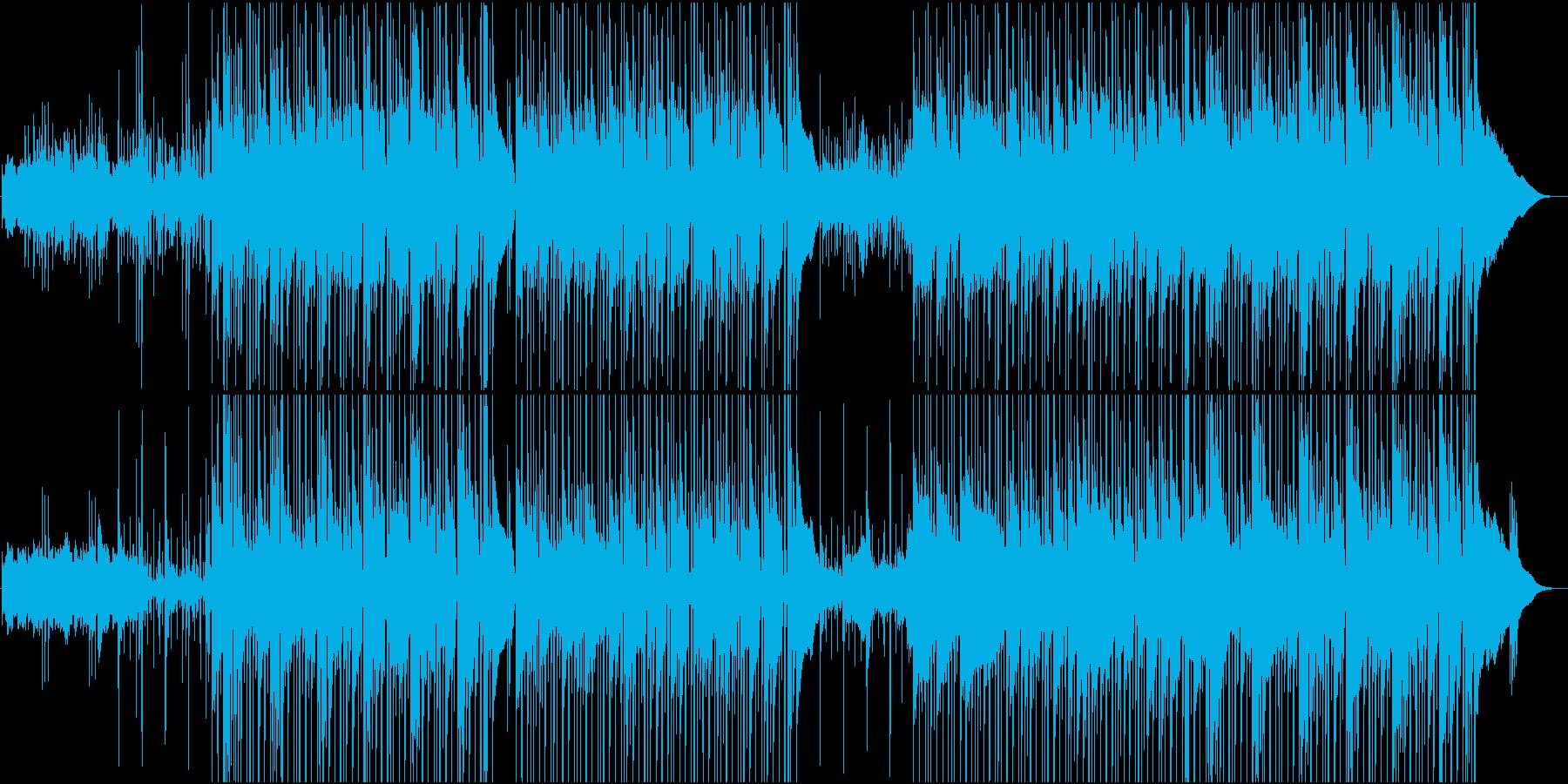 のんびりウクレレのハワイアン楽曲の再生済みの波形