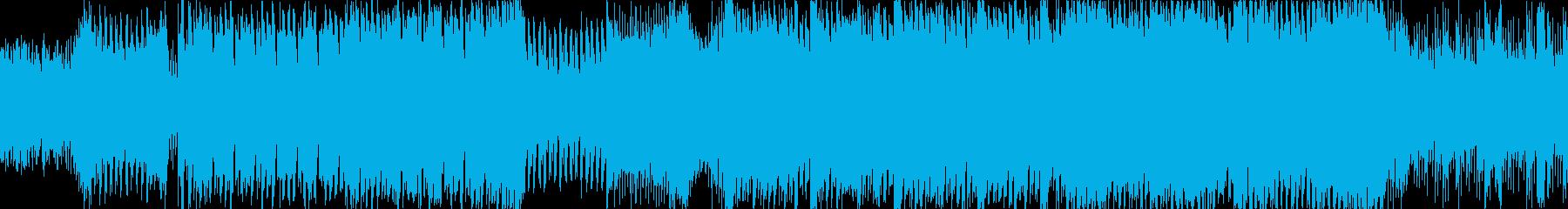疾走感のあるSTG系テクノの再生済みの波形