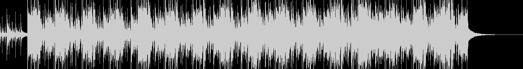 南国風ビートの明るいBGMの未再生の波形