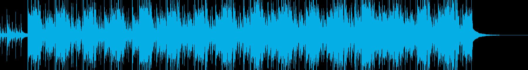 南国風ビートの明るいBGMの再生済みの波形