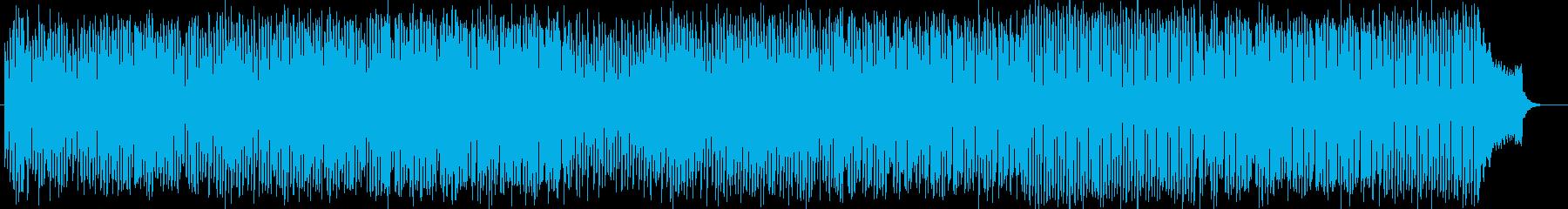 明るく楽しいシンセサイザー系サウンドの再生済みの波形