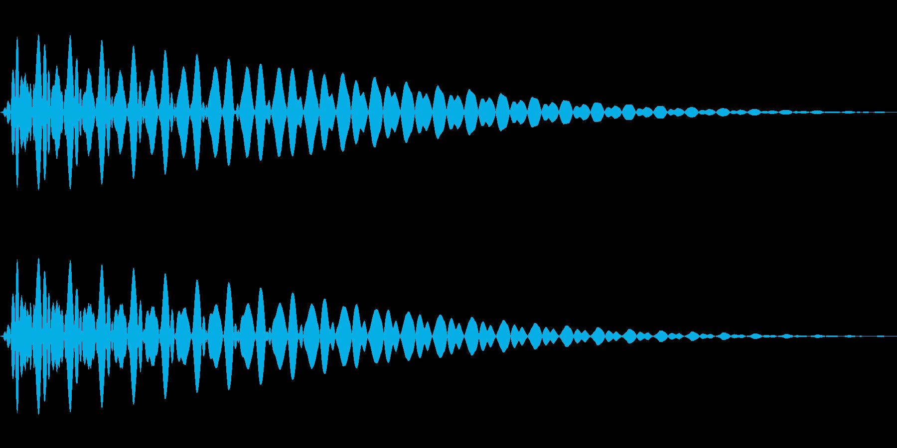 PureTouch アプリ用タッチ音71の再生済みの波形