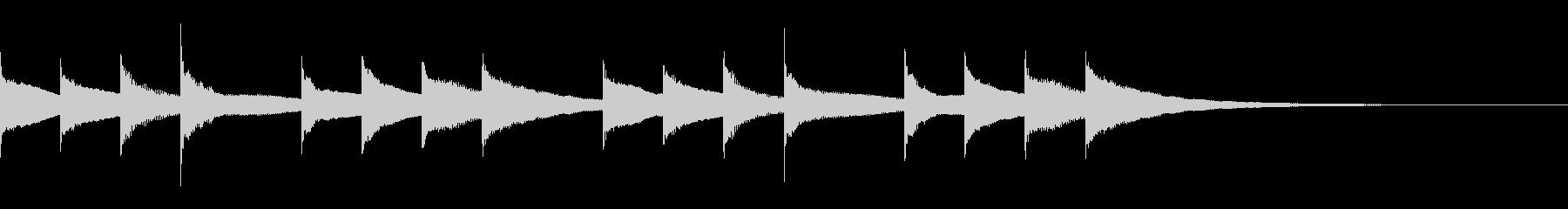 学校のチャイム・始業ベルの音:1の未再生の波形