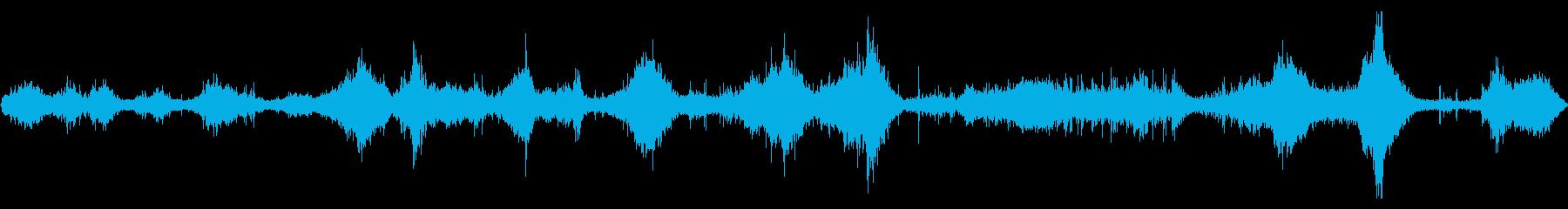 穏やかな海の波の音です。の再生済みの波形