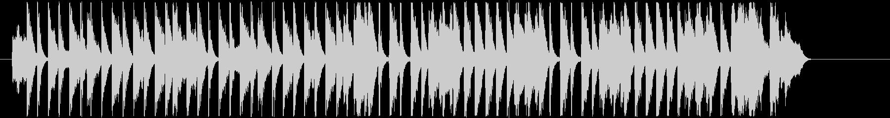 30秒ユーチューバー動画に コーラス入りの未再生の波形