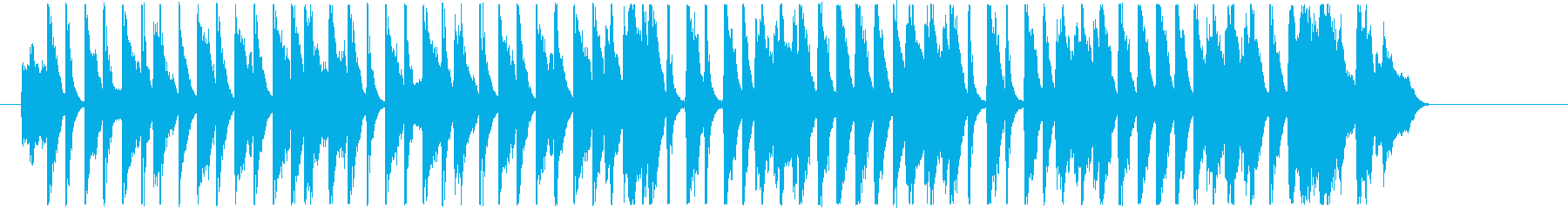 30秒ユーチューバー動画に コーラス入りの再生済みの波形