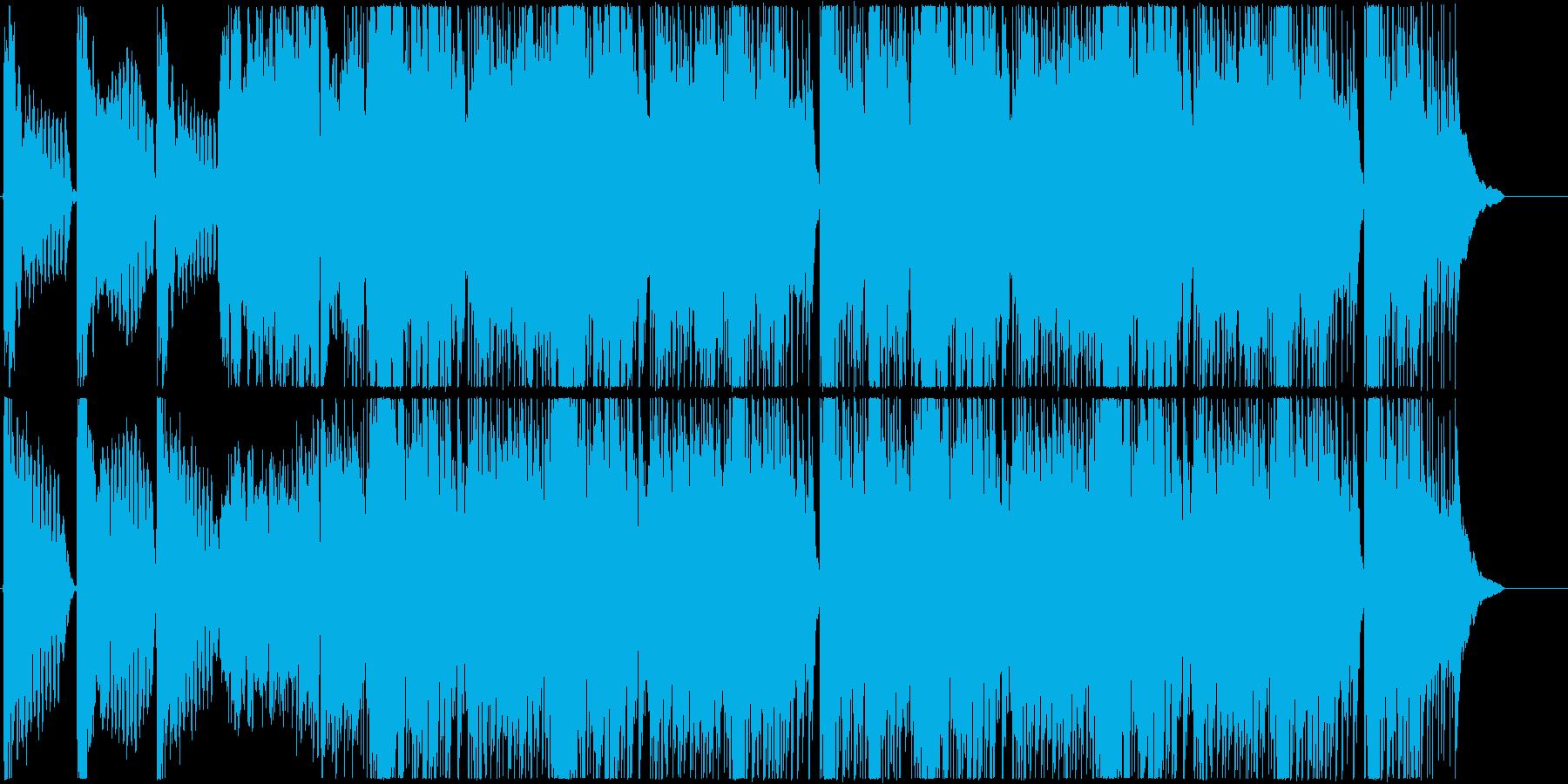 尺八、三味線、琴が響く和風楽曲の再生済みの波形