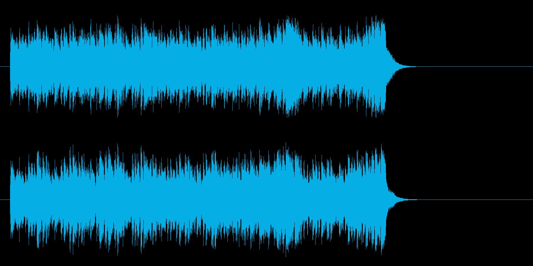 情報向けの軽快なポップス(サビ)の再生済みの波形