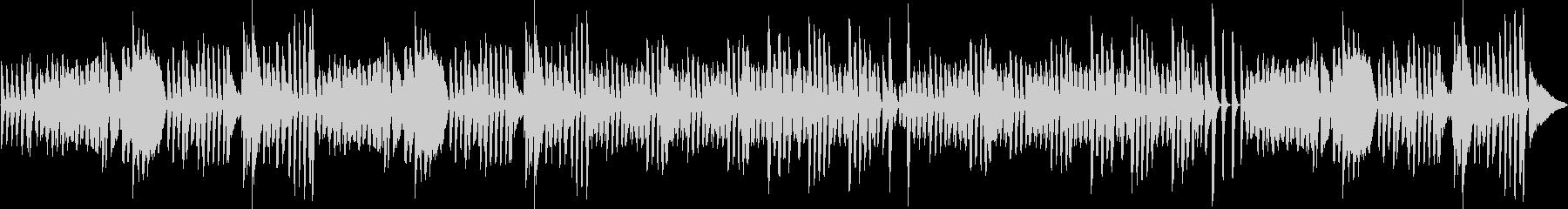 ピアノによる、陽気で楽しいラグタイムの未再生の波形