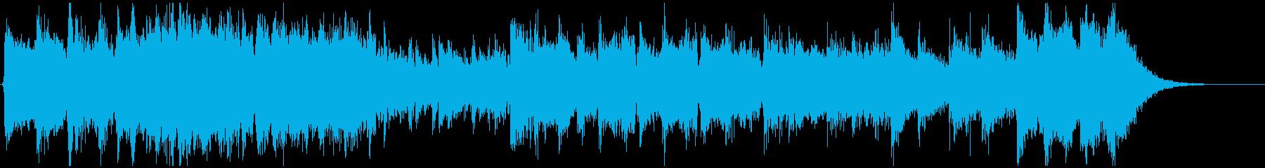 怪盗系ハードボイルドジャズのジングルAの再生済みの波形