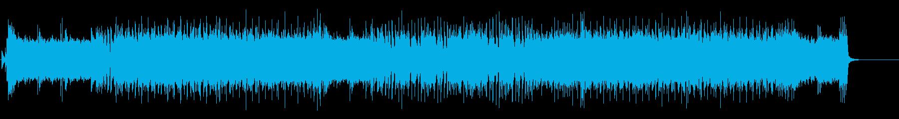 熱いギターロックBGM3の再生済みの波形