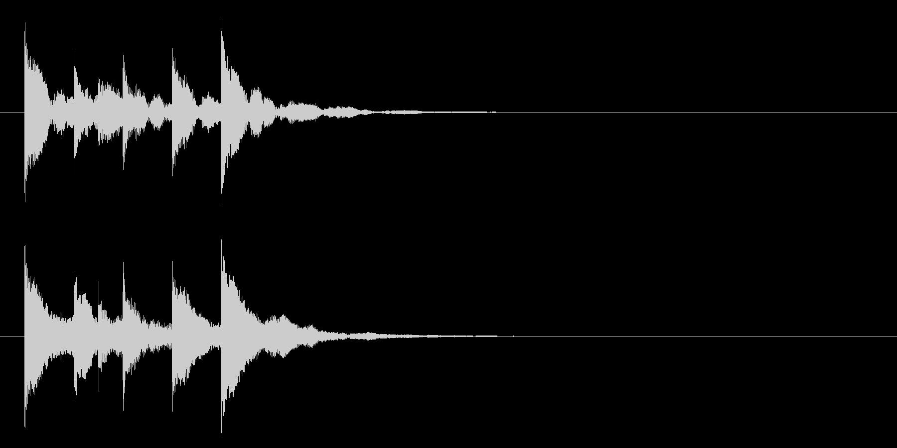 トントコトントントン!締め太鼓3リバーブの未再生の波形