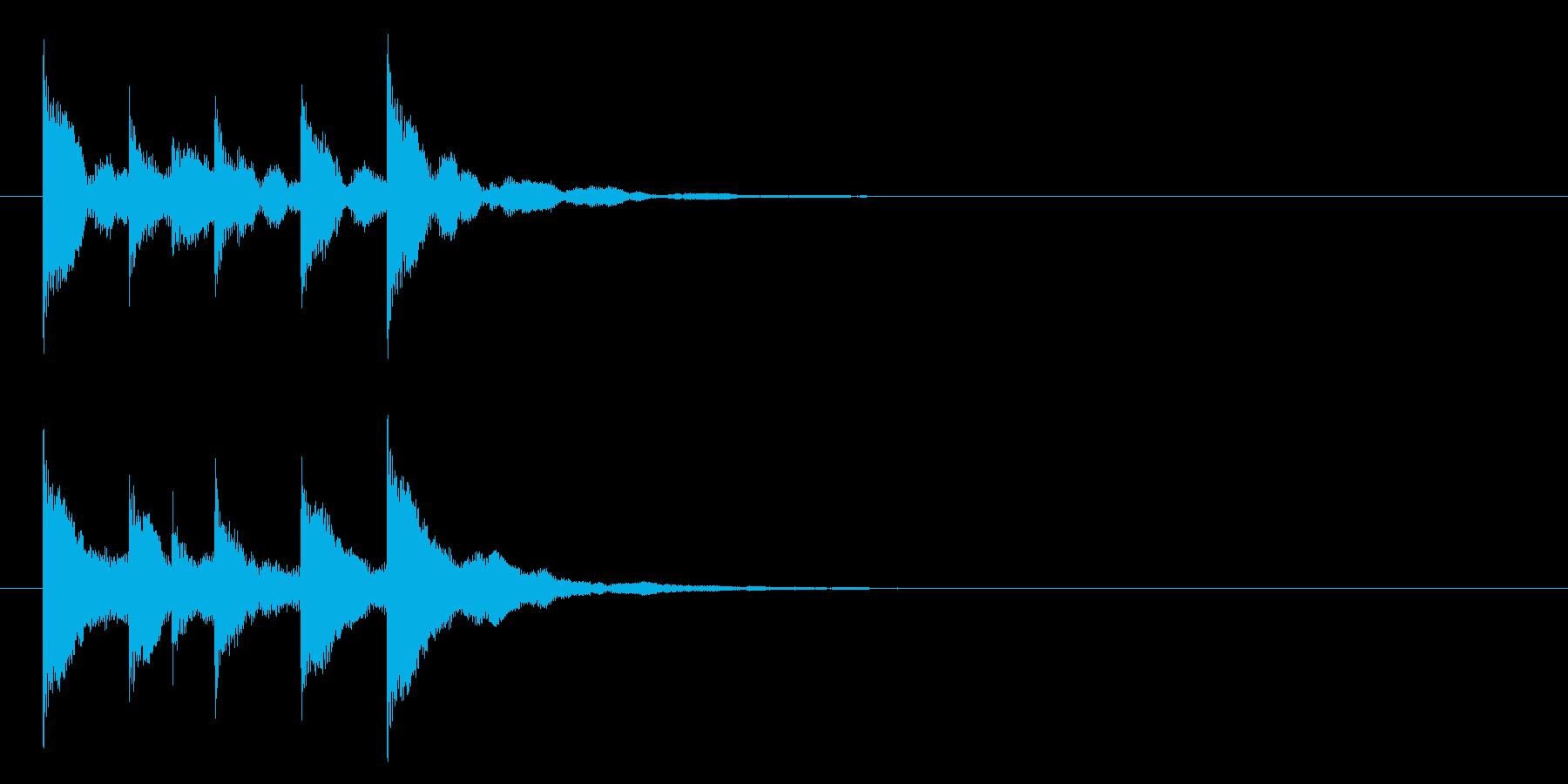 トントコトントントン!締め太鼓3リバーブの再生済みの波形
