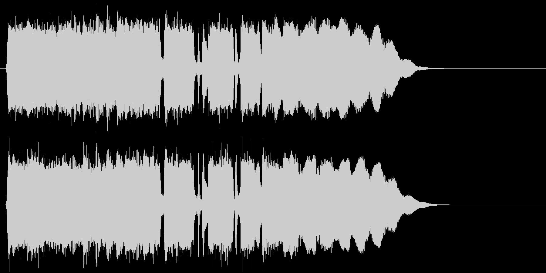 シンプルでマイナーなエレキロックジングルの未再生の波形