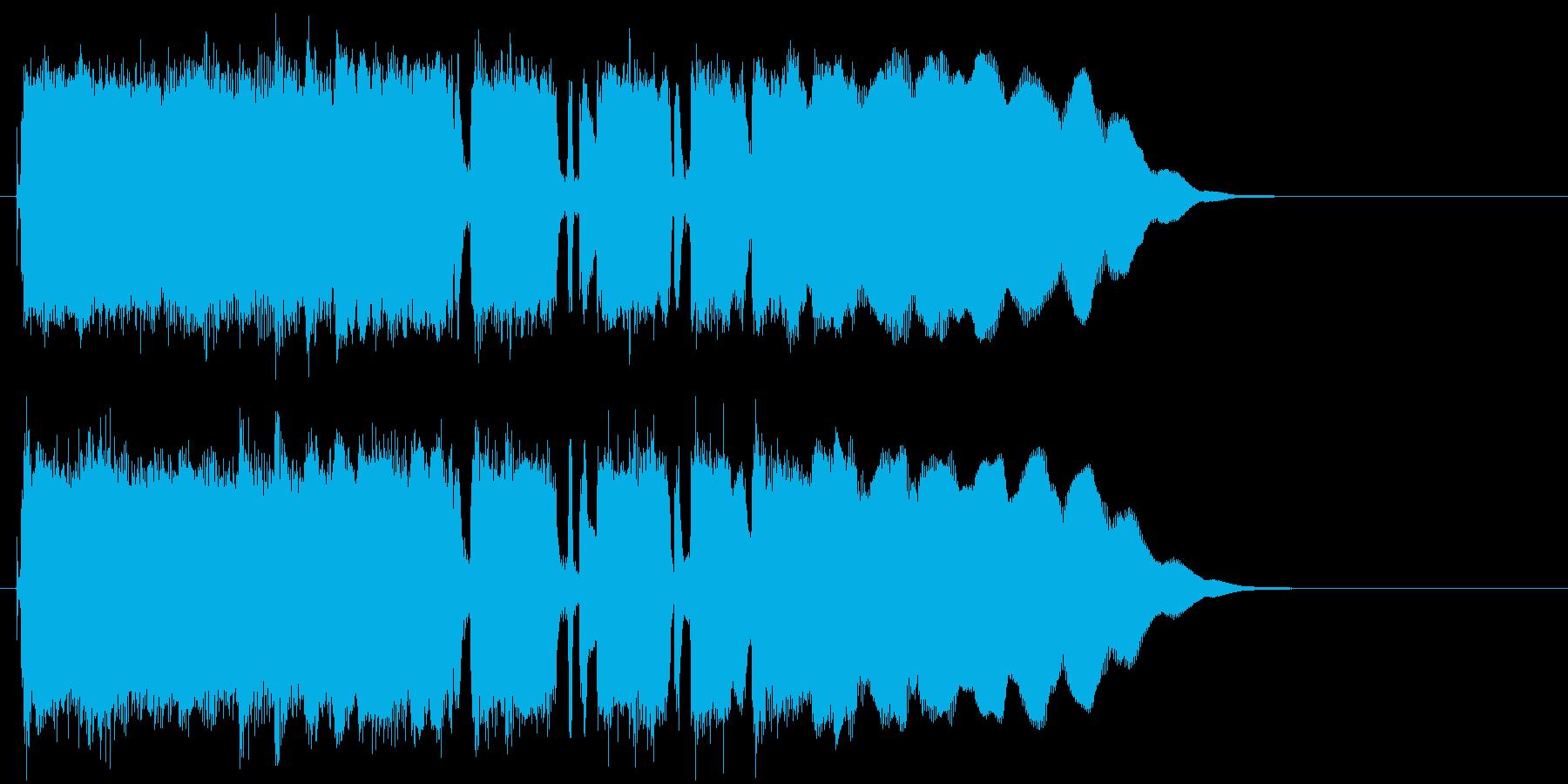 シンプルでマイナーなエレキロックジングルの再生済みの波形
