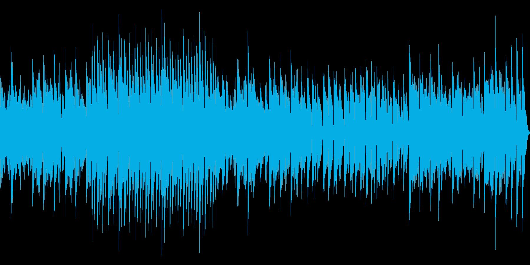少し哀愁漂うアコーディオンの再生済みの波形
